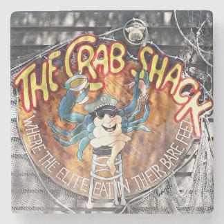 Crab Shack Tybee Marble Stone Coaster. Stone Beverage Coaster