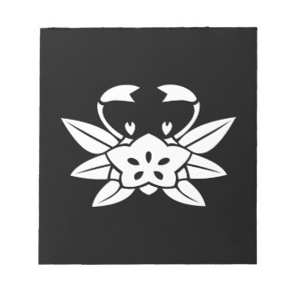 Crab-shaped gentian notepad