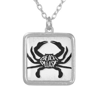 Crab Silver Plated Necklace
