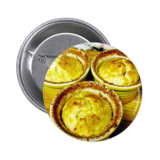 Crab Souffle Cooking Dinner 6 Cm Round Badge