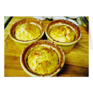 Crab Souffle Cooking Dinner Greeting Card