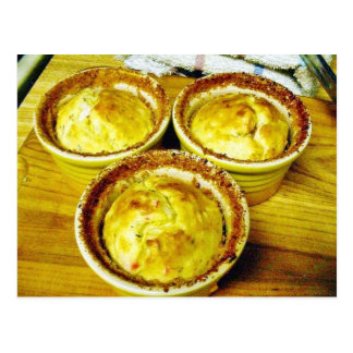 Crab Souffle Cooking Dinner Postcard