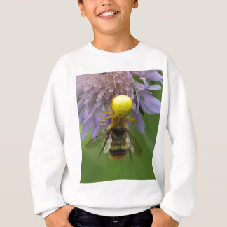 Crab spider (Misumena vatia) with a bumblebee Sweatshirt