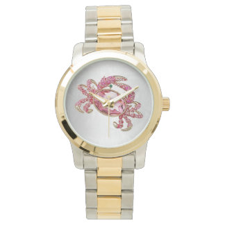 Crab Star Sign Cancer Pink Diamond look glam Watch