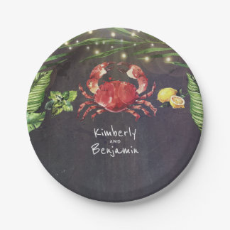 Crab Tropical Beach Paper Plate