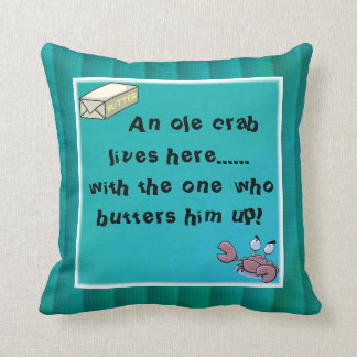 Crab with Butter Throw Pillow