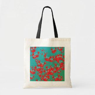 Crab world tote bag