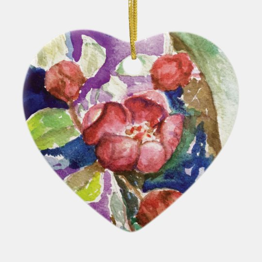 crabapple3 ceramic ornament