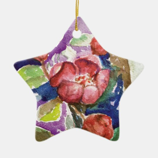 crabapple3 ceramic ornament