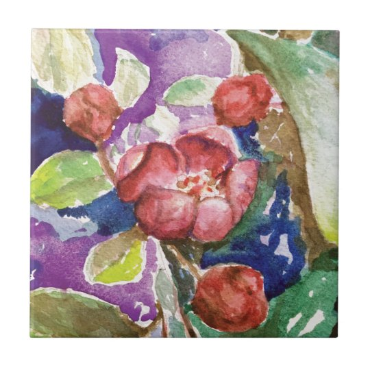 crabapple3 ceramic tile