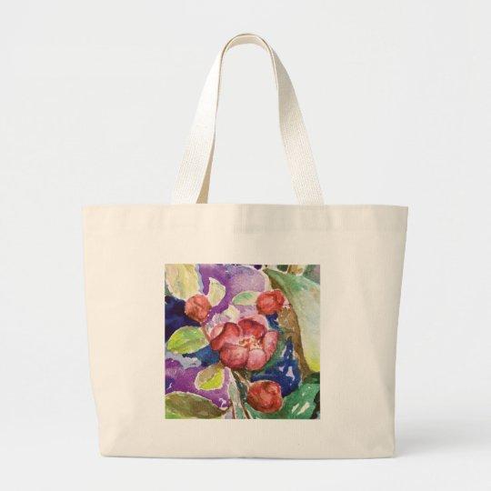 crabapple3 large tote bag