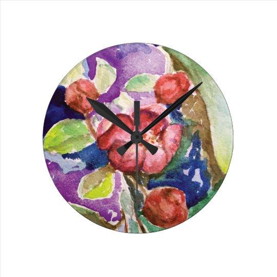 crabapple3 round clock