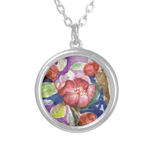 crabapple3 silver plated necklace