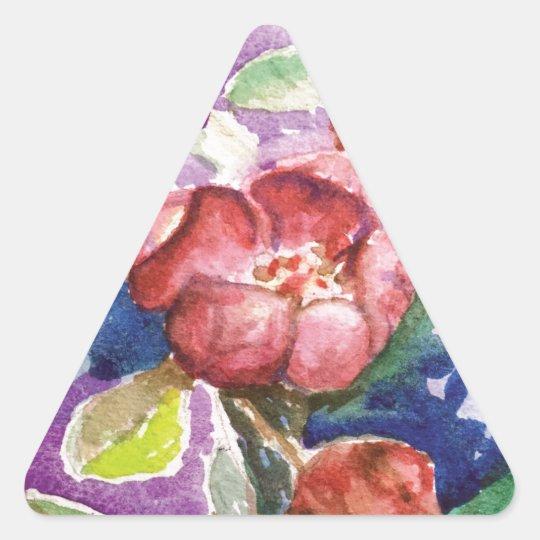 crabapple3 triangle sticker