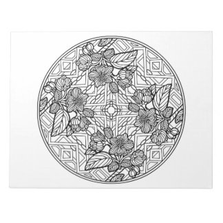 Crabapple Mandala Coloring Book Pad