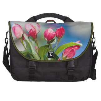 Crabapple Tree Blossoms And Blue Skies Laptop Bag