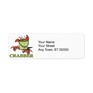 crabber bucket of crabby crabs return address label