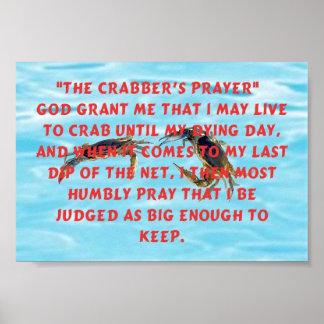 Crabbers Prayer Poster
