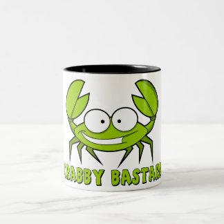 Crabby bastard Two-Tone mug