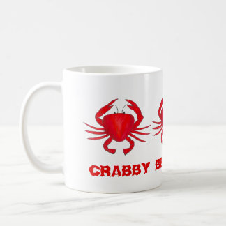 Crabby Before Coffee Red Maryland Crab Crabs Mug