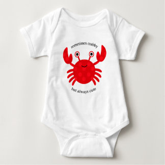 Crabby but Cute Baby Bodysuit