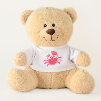 Crabby Crab Design Teddy Bear
