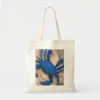 """""""Crabby Day"""" Blue Crab Budget Tote"""