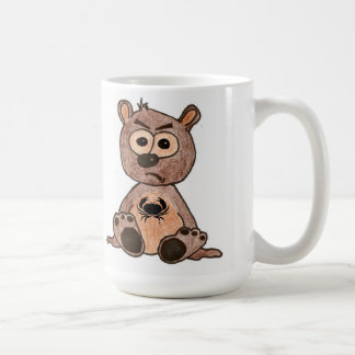 Crabby Heart Bear Basic White Mug