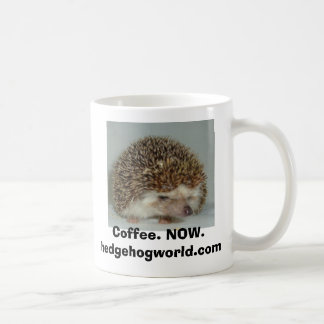 crabby hedgehog coffee mug