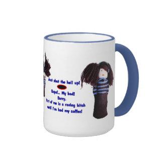 Crabby till Coffee! Ringer Mug