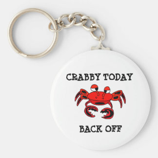 Crabby Today Back Off Keychain