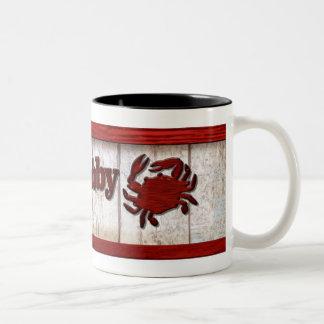 """Crabby"" Two-Tone Coffee Mug"