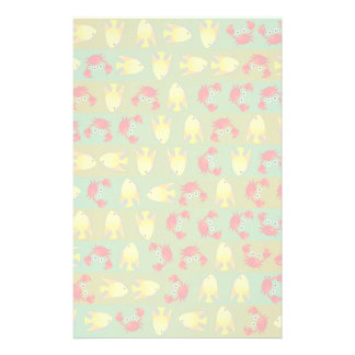 Crabs and fish stationery paper