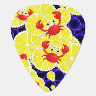 Crabs on lemon plectrum