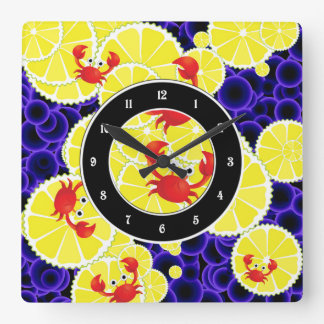 Crabs on lemon wallclock