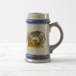 Crabs over cracked castles beer stein