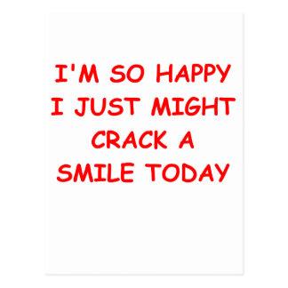 crack a smile postcard