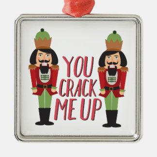 Crack Me Up Metal Ornament
