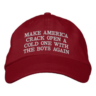CRACK OPEN A COLD ONE WITH AMERICA EMBROIDERED HAT