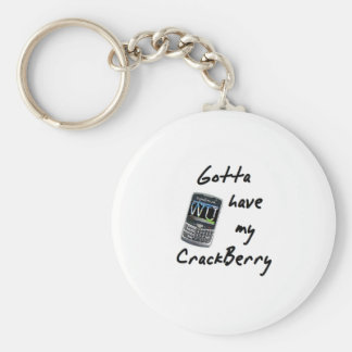 Crackberry Basic Round Button Key Ring