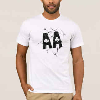Cracked Aces (Blk) T-Shirt