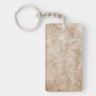 Cracked Aged and Rough Brown Vintage Texture Rectangle Acrylic Key Chains