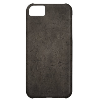 Cracked Aged and Rough Dark Brown Vintage Texture iPhone 5C Cases