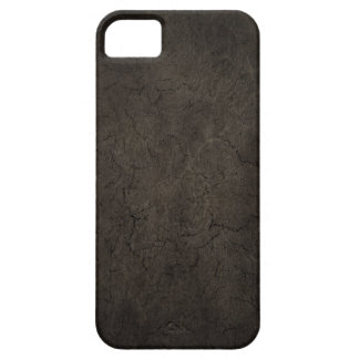 Cracked Aged and Rough Dark Brown Vintage Texture iPhone 5 Cases