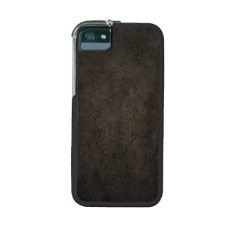 Cracked Aged and Rough Dark Brown Vintage Texture Cover For iPhone 5
