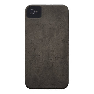 Cracked Aged and Rough Dark Brown Vintage Texture iPhone 4 Covers