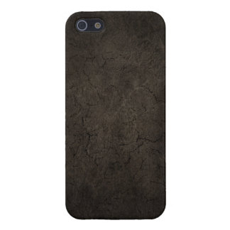Cracked Aged and Rough Dark Brown Vintage Texture Case For iPhone 5