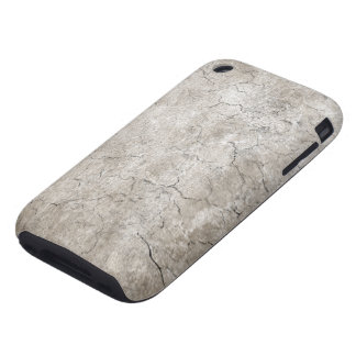 Cracked Aged and Rough Gray Vintage Texture iPhone 3 Tough Cover