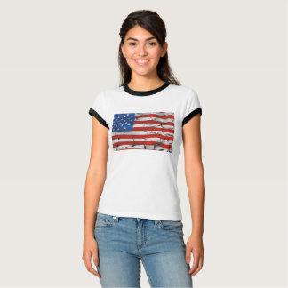Cracked American flag shirt