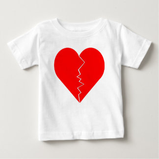 Cracked And Broken Heart Baby T-Shirt